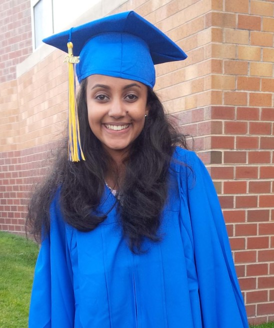 Makeda Daniel at her graduation.