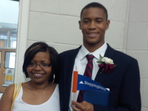 Lynette and Trent at Trent's graduation from Belmont Hill School in 2013